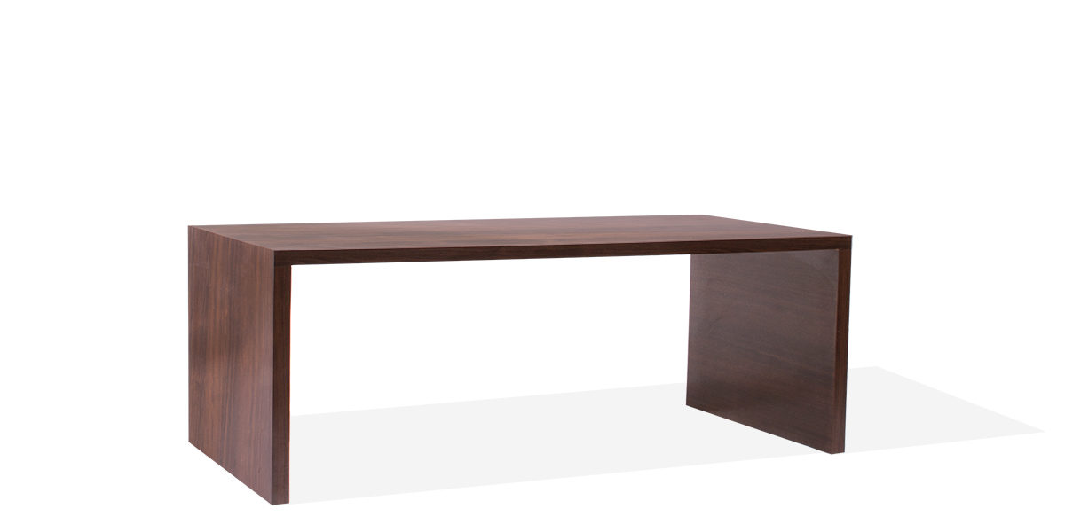 "72""w x 36""d Walnut Laminate Table Desk DSK013950"