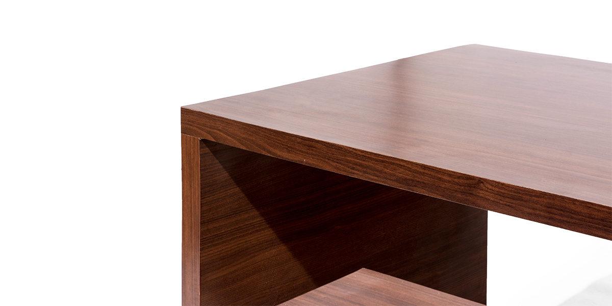 "72""w x 36""d Walnut Laminate Table Desk DSK013950"