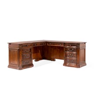 "72""w x 72""d Mahogany L-Shape Desk DSK014011 + DSK014014"