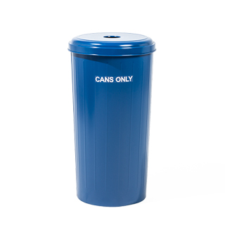 "30""h Blue Recycle Waste Receptacle MIS014147"