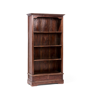 "34.5""w x 70.75""h Walnut Bookcase BKC014186"