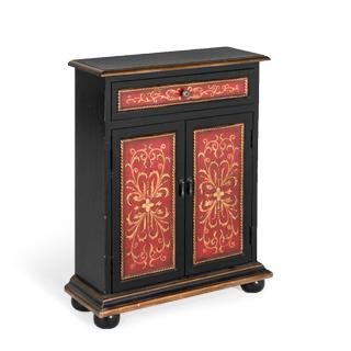 "26""w x 9.5""d Black Storage Cabinet CAB011460"