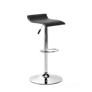 Black Vinyl Bar Stool CHR013964
