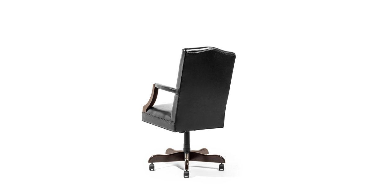 Black Vinyl Mid-Back Swivel Chair CHR013968