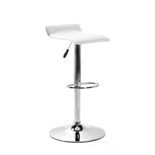 White Vinyl Bar Stool CHR014036