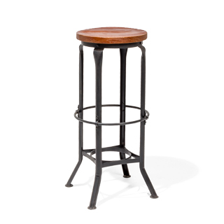 Cast Iron + Wood Stool CHR014182