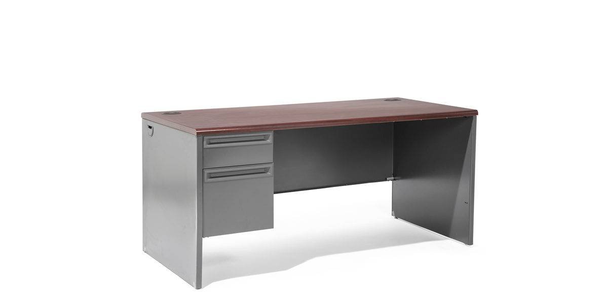 "66""w x 30""d Charcoal Grey Desk DSK010840"