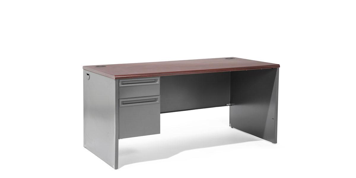 "66""w x 30""d Charcoal Grey Desk DSK010840"