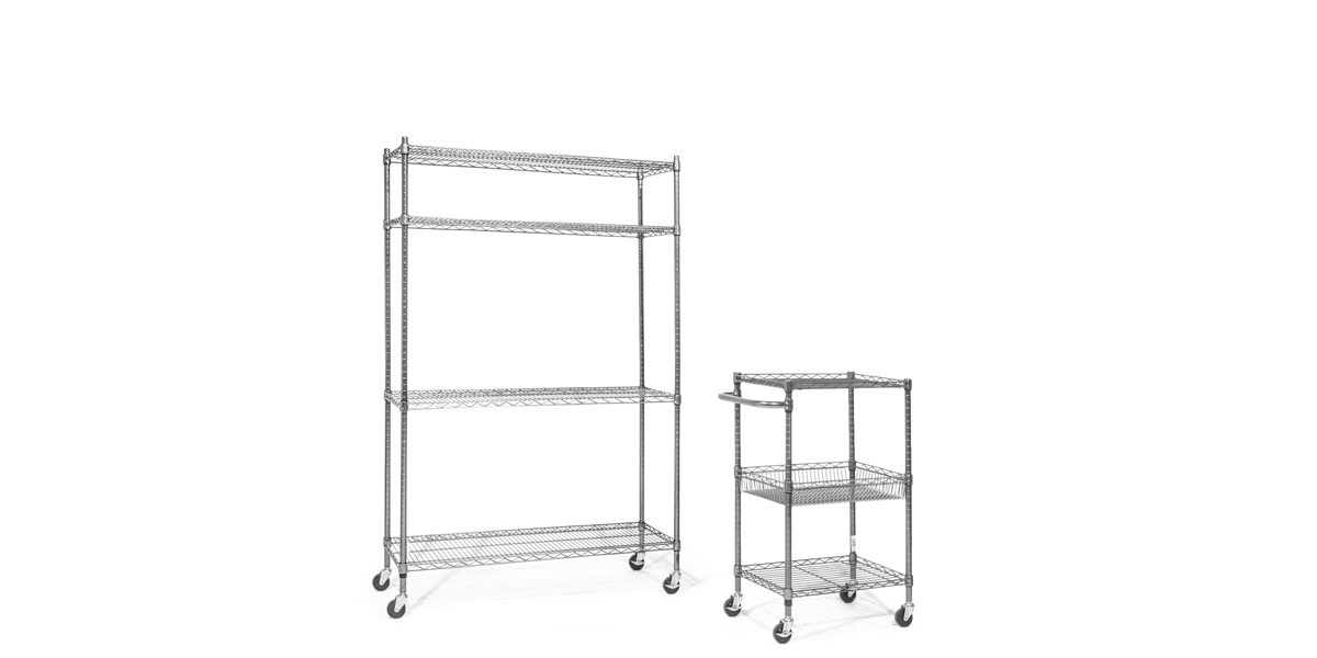 "28""w x 16""d Wire Metal Cart MIS014097"