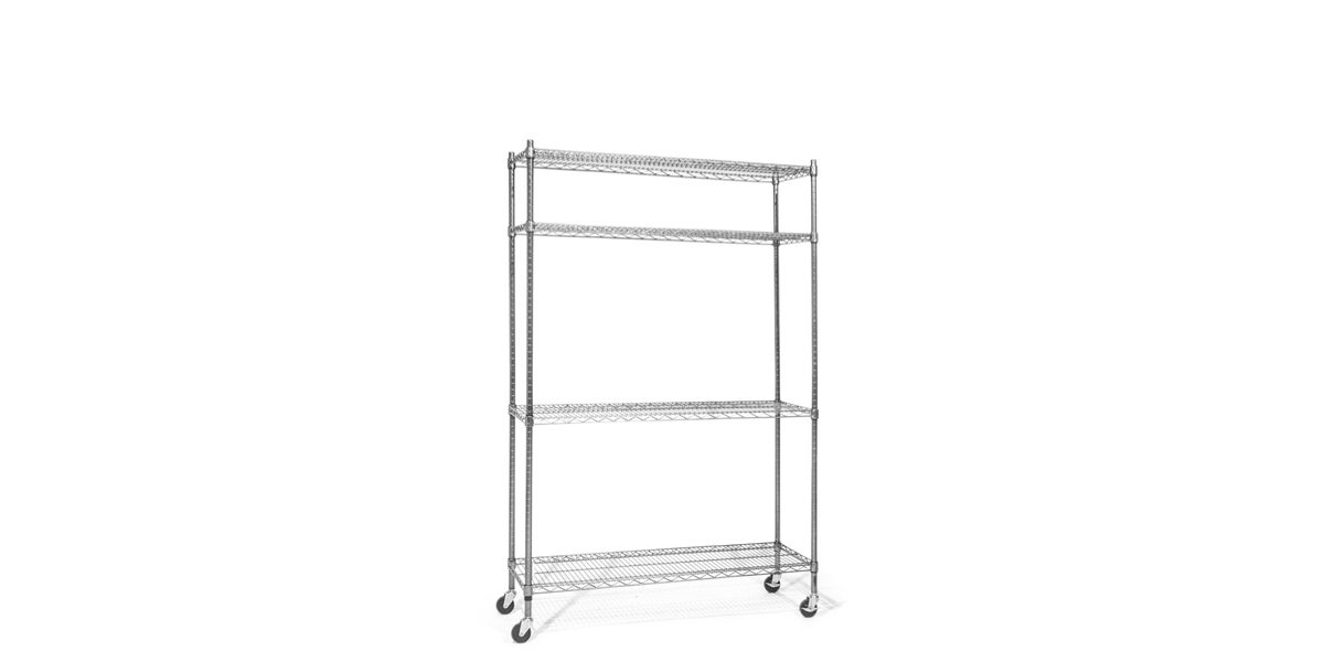"48""w x 75""h Wire Metal Shelving Unit SHV014096"