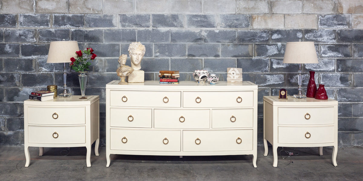 """68""""w x 20.5""""d Alabaster Dresser BED014103"""