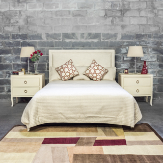 Cream Queen Bed BED014100