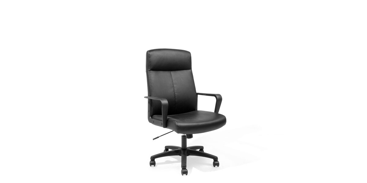 Black Leather Executive Hi-Back Office Chair CHR014146
