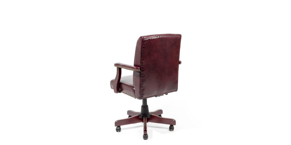 Oxblood Mid-Back Traditional Office Chair CHR014155