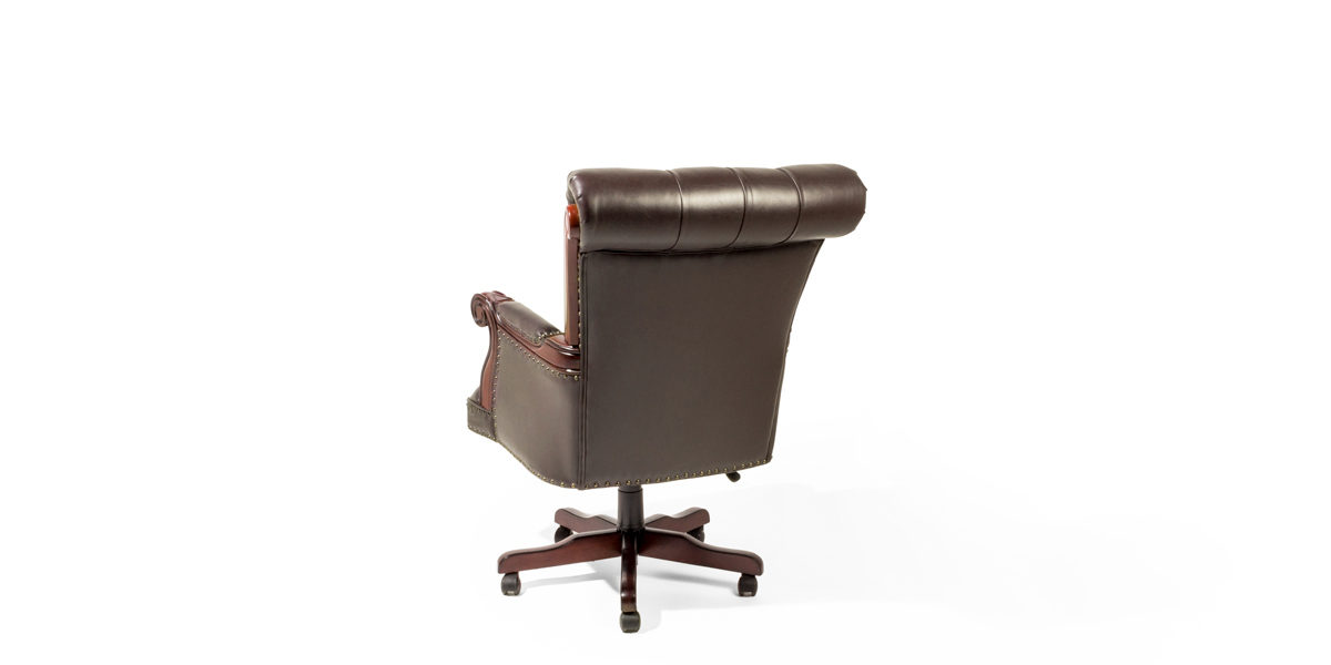 Brown Tufted Leather Executive Office Chair CHR014187