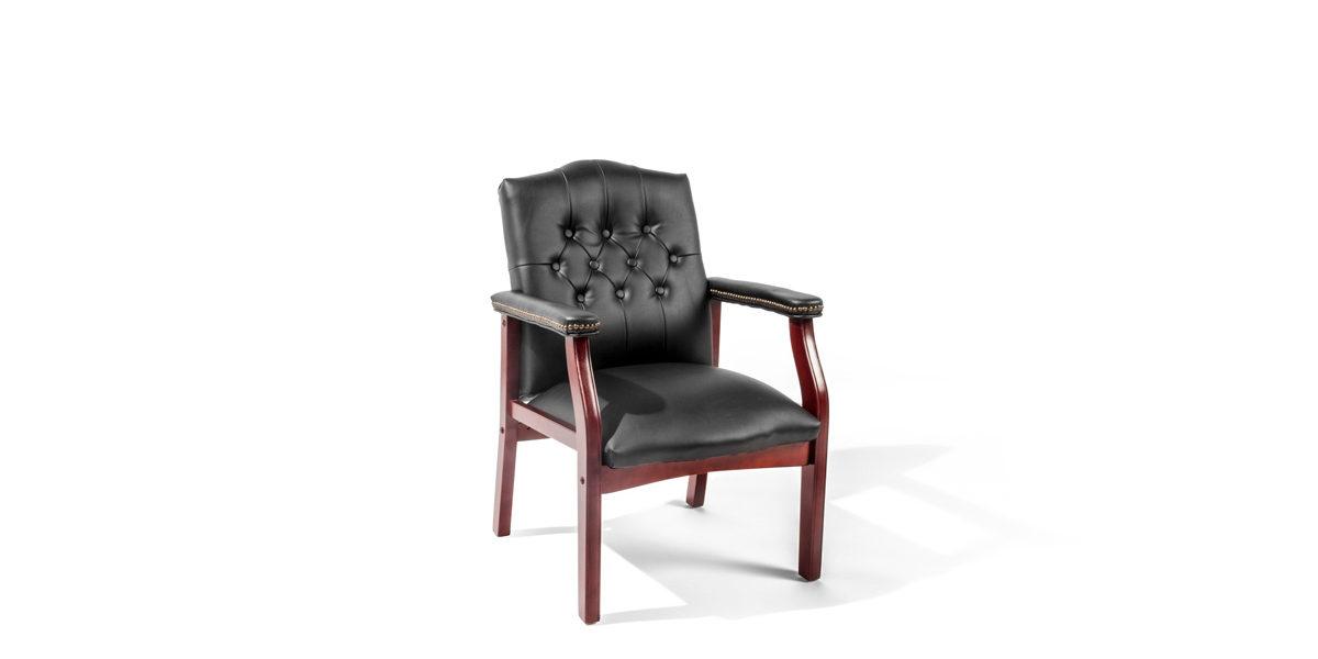 Black Vinyl Guest Chair CHR014222
