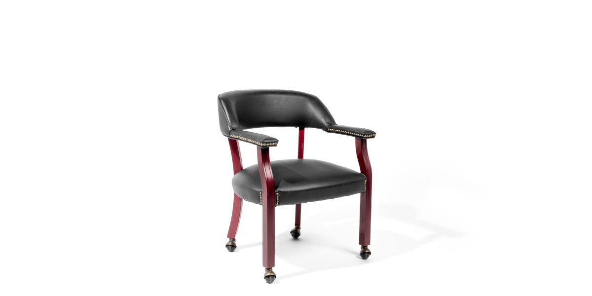 Black Vinyl Guest Chair TRD012863