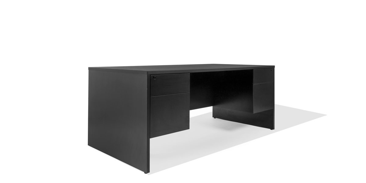 "72""w x 36""d Black Laminate Desk DSK013673"