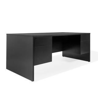 "72""w x 36""d Black Laminate Desk DSK013673"