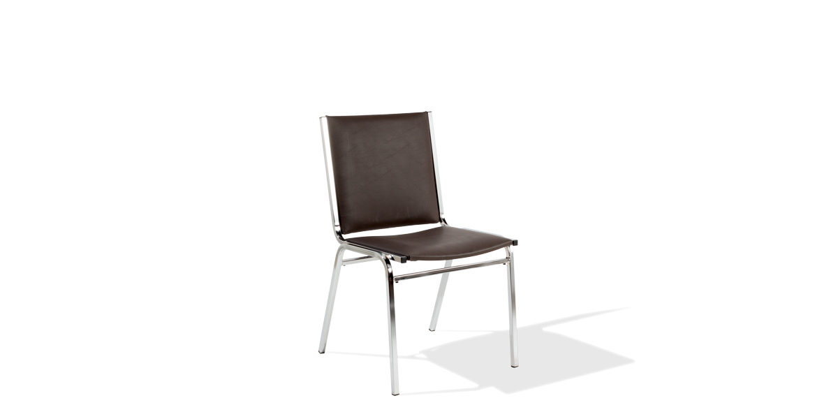 Brown Vinyl Stack Chair CHR014210