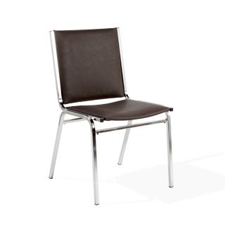 Brown Vinyl Stack Chair CHR014210