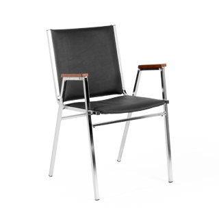 Black Vinyl Stack Chair CHR014211
