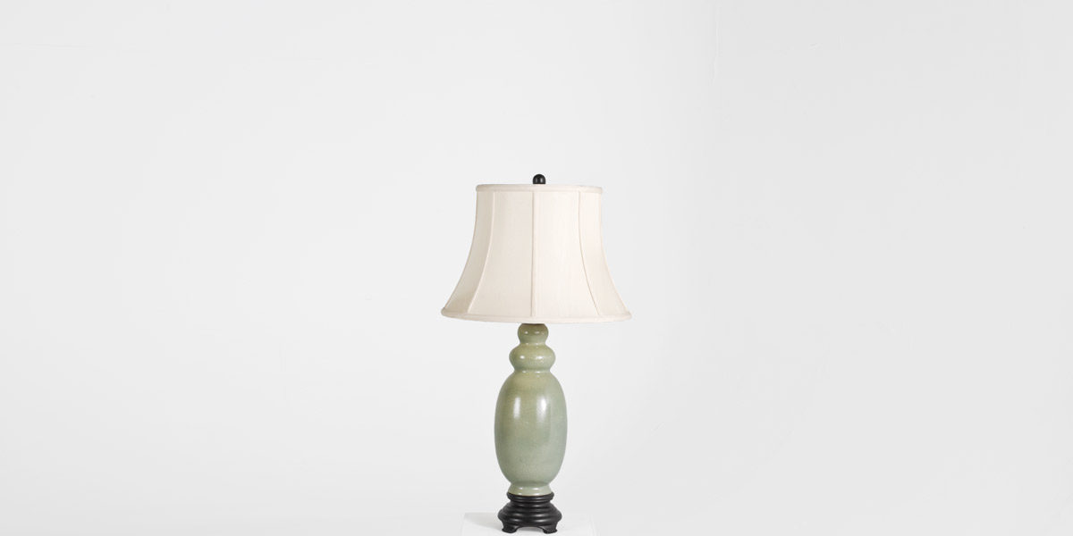 "33""h Jade Ceramic Table Lamp LGT011847"
