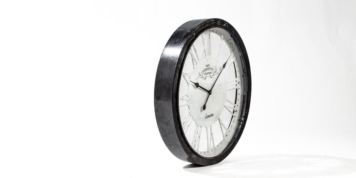 "36""dia Rustic Black Clock ACC014273"