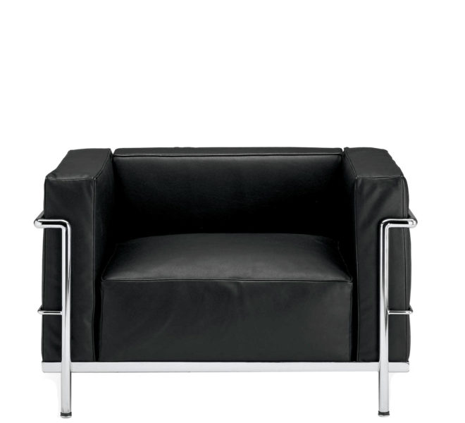 Black Leather Corbusier Club Chair CHR003130