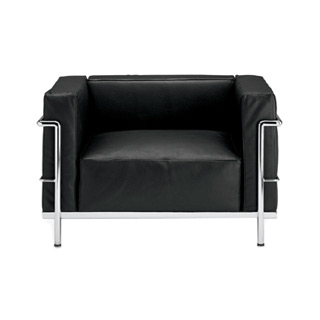 Black Leather Corbusier Club Chair CHR003130