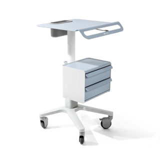 "22""w x 31""h - 41""h Putty Medical Cart MIS012674"