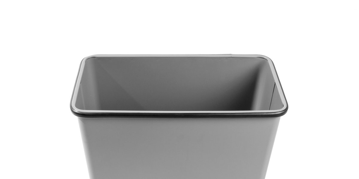 "29.5""h Grey Steel Waste Receptacle MIS014220"
