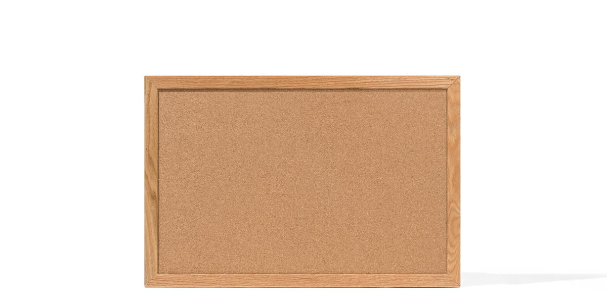 "24""w x 36""h Oak Wall Bulletin Board MIS014258"
