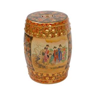 Gold Porcelain Stool CHR009729