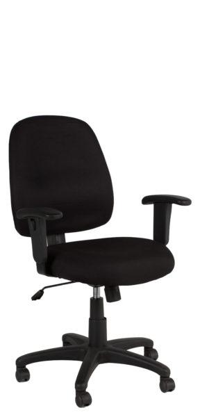 Black Fabric Mid-Back Swivel Chair CHR010835