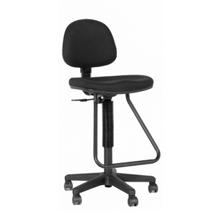 Black Fabric Drafting Stool CHR012339