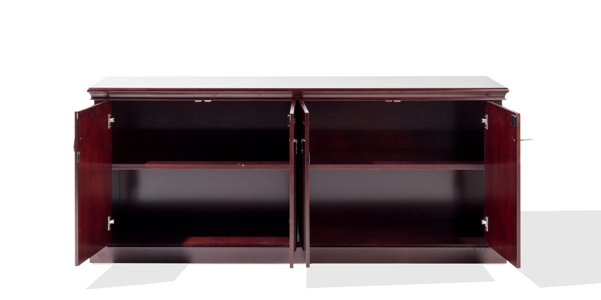 "72""w x 20""d Traditional Dark Cherry Credenza CRD014283"