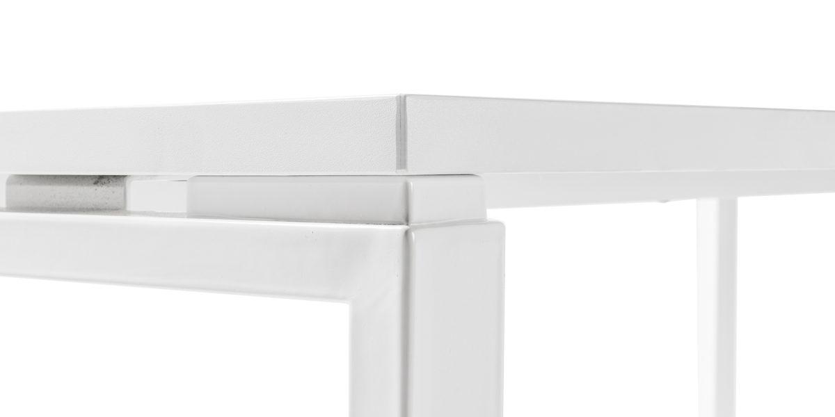 """60""""w x 30""""d - 35""""d White Laminate Table Desk DSK014194"""