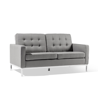 "61""w x 31""d Granite Grey Loveseat LVS014202"
