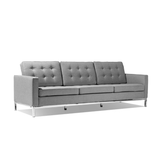 "91.5""w Granite Grey Sofa SOF014172"