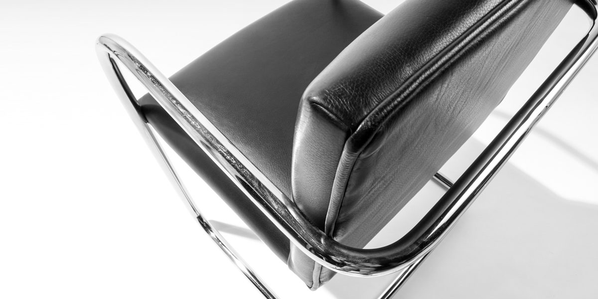 Black Leather Bruno Arm Chair CHR002329