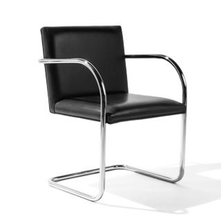 Black Leather Bruno Arm Chair CHR002329