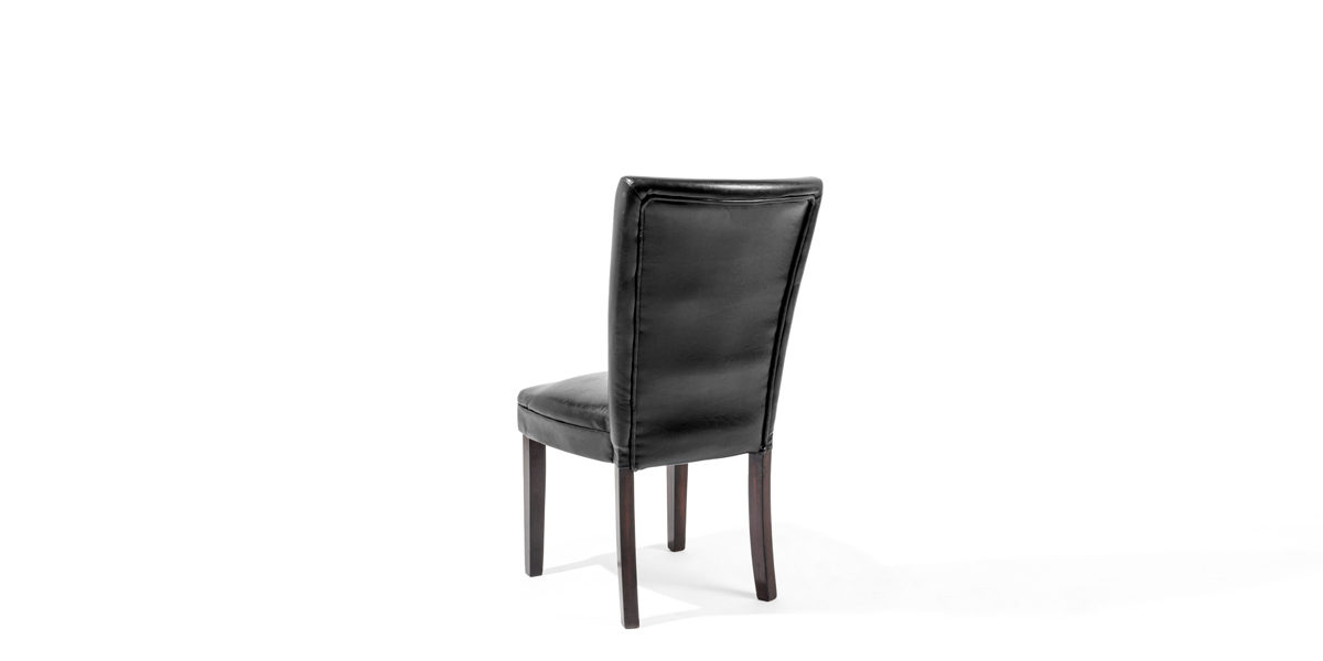 Black Leather Side Chair CHR012679