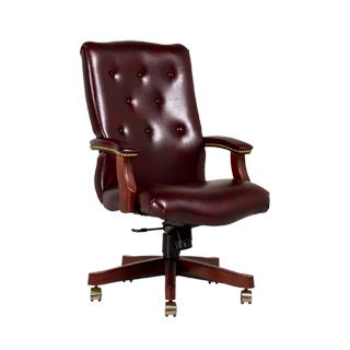 Traditional Oxblood Executive Office Chair CHR012968