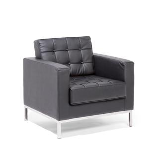Black Leather Club Chair CHR013966