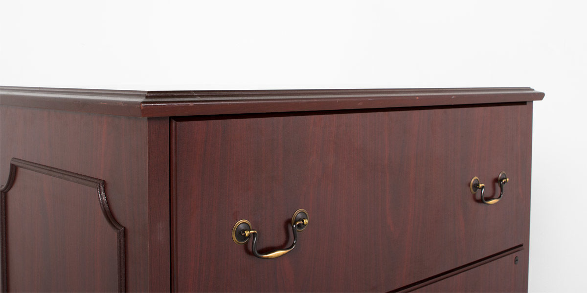 "37.5""w x 21""d Traditional Mahogany Lateral File FIL007156"