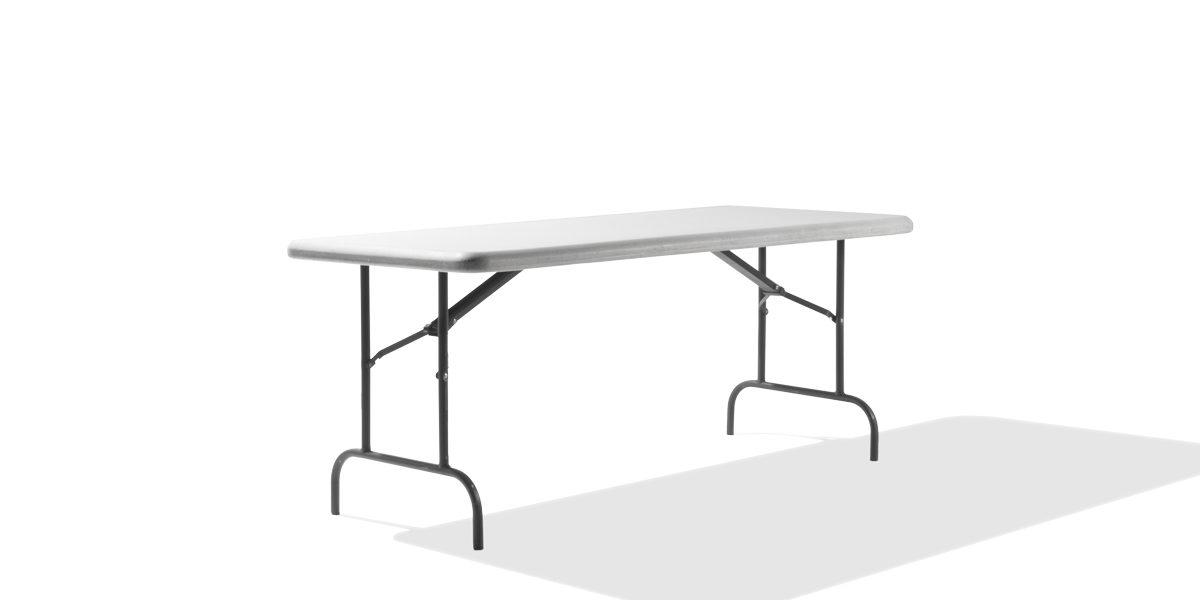 "72""w x 30""d Light Grey Folding Table TBL010041"