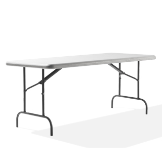 "72""w x 30""d Light Grey Folding Table TBL010041"