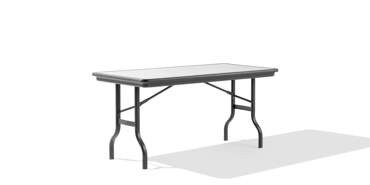 "60""w x 30""d Grey Folding Table TBL010613"