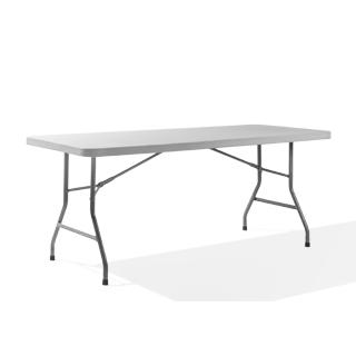 "72""w x 30""d Light Grey Folding Table TBL011755"